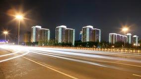Traffico attraverso Pechino del centro immagini stock