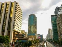 Traffico a Bangkok ad alba Fotografie Stock Libere da Diritti