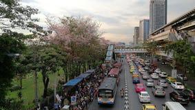 Traffico a Bangkok & x28; Jatujak& x29; Fotografia Stock