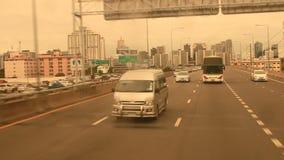 Traffico a Bangkok, Tailandia stock footage