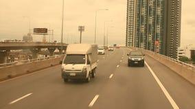 Traffico a Bangkok, Tailandia video d archivio