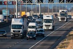 Traffico britannico dell'autostrada M1 Immagine Stock Libera da Diritti