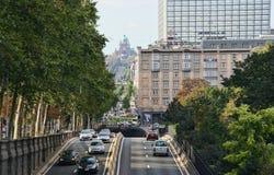 Traffico a Bruxelles, Belgio Fotografia Stock Libera da Diritti