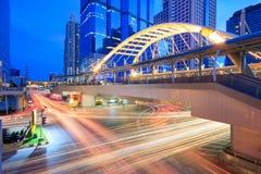 Traffico a BTS Chong Nonsi Fotografie Stock