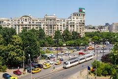 Traffico a Bucarest Fotografia Stock Libera da Diritti