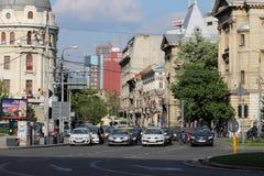 Traffico a Bucarest, Romania Immagine Stock