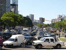 Traffico a Buenos Aires Fotografie Stock