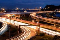 traffico chiaro della città Fotografie Stock Libere da Diritti