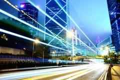 Traffico in città Fotografie Stock