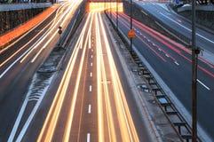 Traffico cittadino Immagini Stock Libere da Diritti