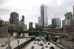 Traffico cittadino di Seattle Fotografia Stock