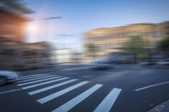 Traffico cittadino di Sydney, strada vaga fotografie stock libere da diritti