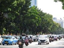 Traffico cittadino a Jakarta fotografia stock