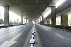 Traffico con la sfuocatura di movimento Fotografia Stock