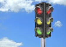 Traffico 3D luminoso Fotografia Stock Libera da Diritti