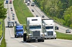 Traffico da uno stato all'altro occupato Fotografie Stock Libere da Diritti