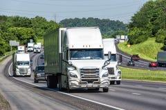 Traffico da uno stato all'altro pesante nel Tennessee Fotografia Stock Libera da Diritti