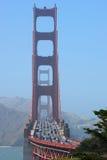 Traffico del cancello dorato Fotografie Stock