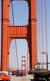 Traffico del cancello dorato Fotografia Stock Libera da Diritti