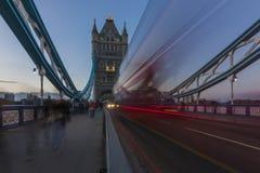 Traffico del ponte della torre Immagine Stock Libera da Diritti