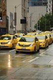 Traffico del taxi di Seattle Fotografia Stock Libera da Diritti