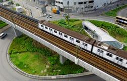 Traffico del treno e della rotonda fotografia stock libera da diritti