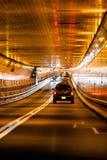 Traffico del tunnel a New York Immagini Stock