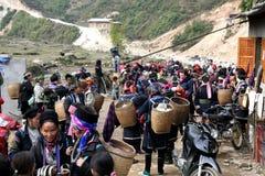 Traffico del villaggio Immagine Stock Libera da Diritti