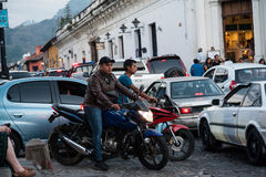 Traffico dell'Antigua Immagini Stock