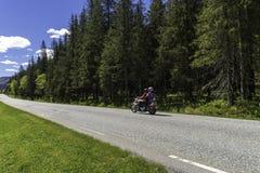 Traffico dell'itinerario della Norvegia Fotografia Stock Libera da Diritti