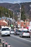 Traffico della località di soggiorno di Busteni Fotografia Stock Libera da Diritti