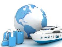 Traffico della nave illustrazione di stock