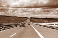 Traffico della strada principale fotografie stock