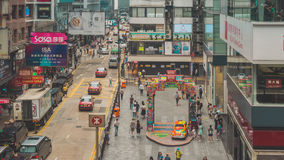 Traffico della via in Hong Kong Fotografia Stock