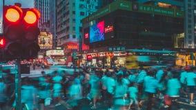 Traffico della via in Hong Kong Fotografia Stock Libera da Diritti