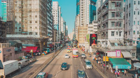 Traffico della via in Hong Kong Immagine Stock