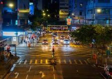 Traffico della via in Hong Kong Immagine Stock Libera da Diritti