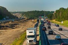 Traffico deviato Fotografia Stock