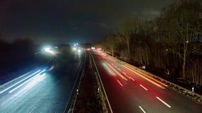 Traffico di automobile pesante dentro di Hannover Lasso di tempo stock footage