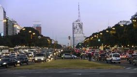 Traffico di Buenos Aires Immagine Stock