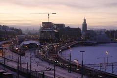 Traffico di città Immagini Stock