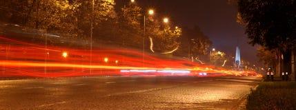 Traffico di città occupato Fotografia Stock