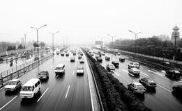 Traffico di città Pechino, Cina Fotografia Stock Libera da Diritti