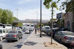 Traffico di Eminonu a Costantinopoli Immagini Stock