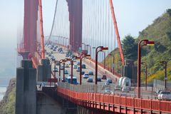Traffico di golden gate bridge Fotografie Stock