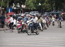 Traffico di Hanoi Fotografia Stock