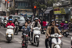 Traffico di Hanoi fotografia stock libera da diritti