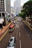 Traffico di Hong Kong Fotografia Stock