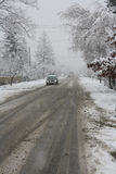 Traffico di inverno Immagine Stock