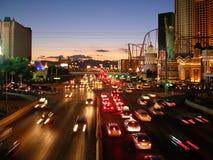 Traffico di Las Vegas Fotografia Stock